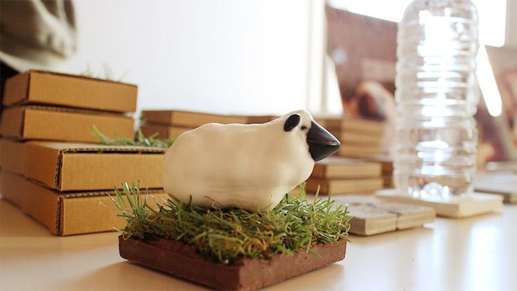 羊型の石鹸