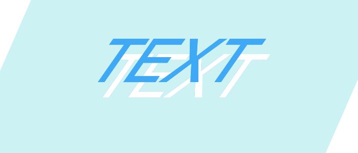 文字の下では塗りの色が変わっている