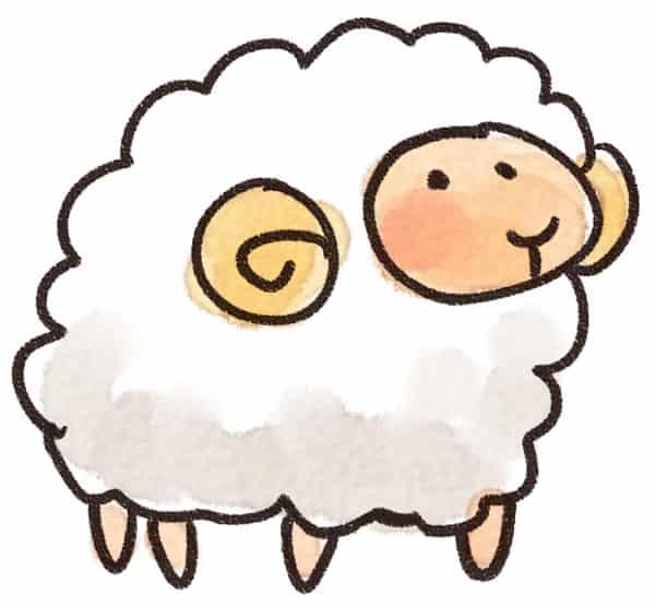 羊のイラスト(動物)