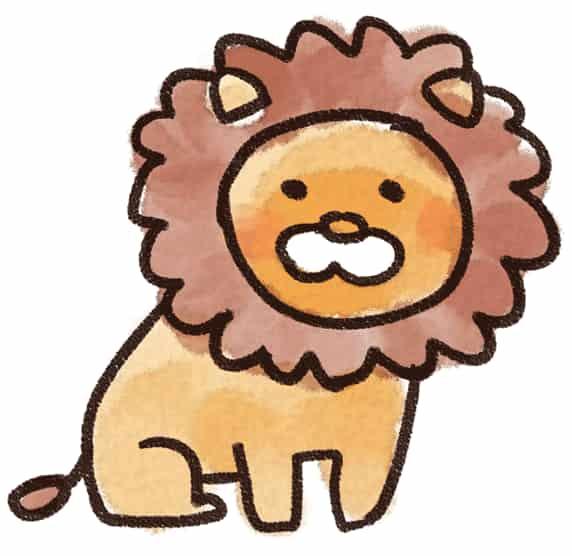 ライオンのイラスト(動物)