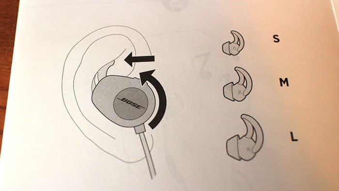 耳にフィットするイヤーチップ