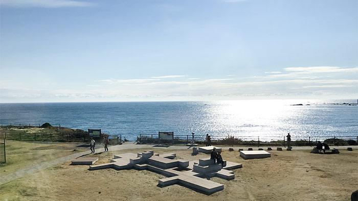 一望できる海の景色