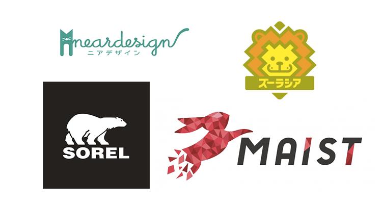 動物モチーフのロゴのサンプル