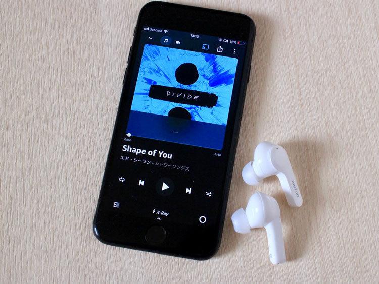 EarFun Airで音楽を再生