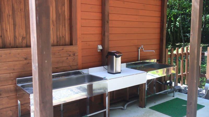 ビアッソキャンプ場の炊事場