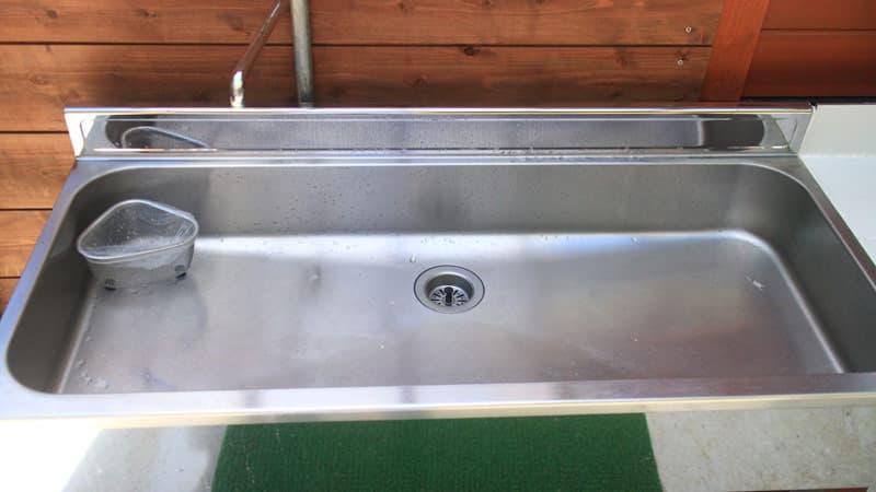ビアッソキャンプ場の洗い場