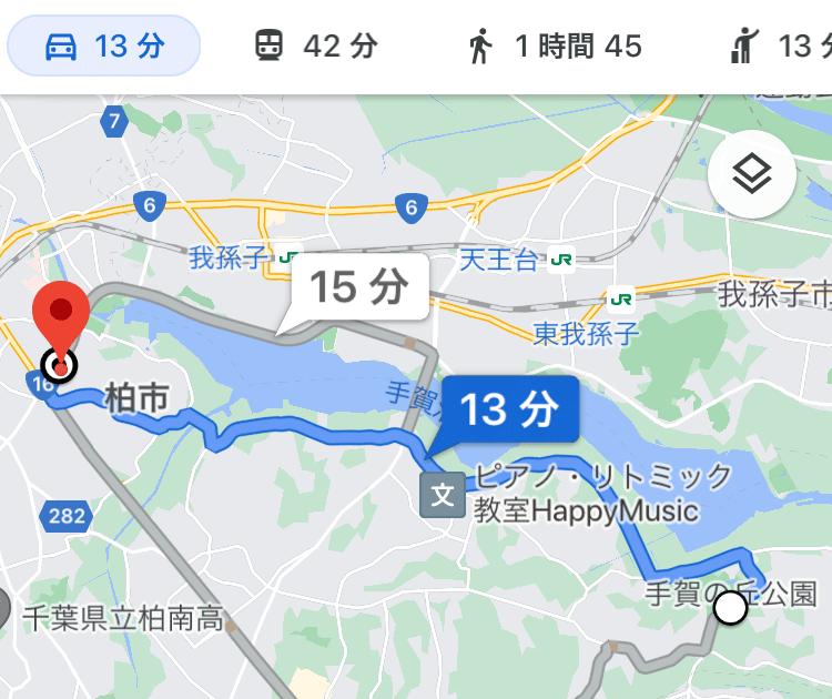 西友までの経路